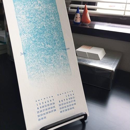 木版画×活版印刷 2018年カレンダー