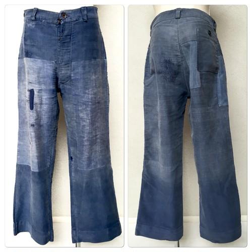 1940-50s French Moleskin  Work Trousers