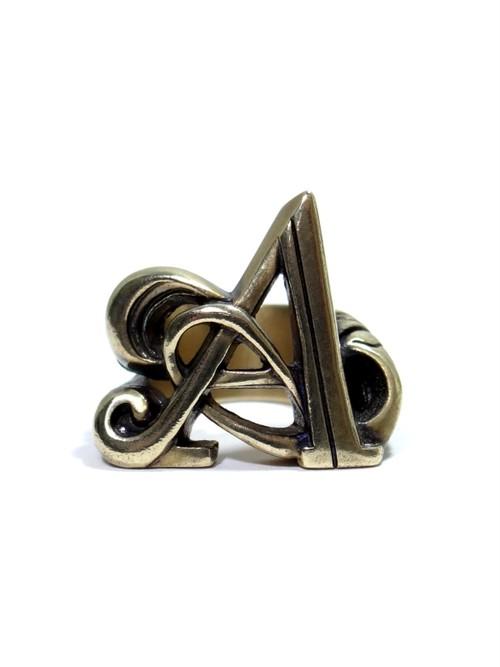 alphabet ring#A (Brass ・ 真鍮) -アルファベットモチーフ リングA-