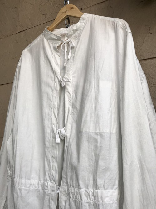 1960s Czech military white hospital gown cut off