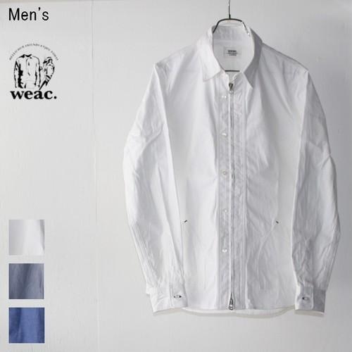 【ラスト1点】 weac. コードレーンジップシャツ  ZIP SHIRTS2 (WHITE)