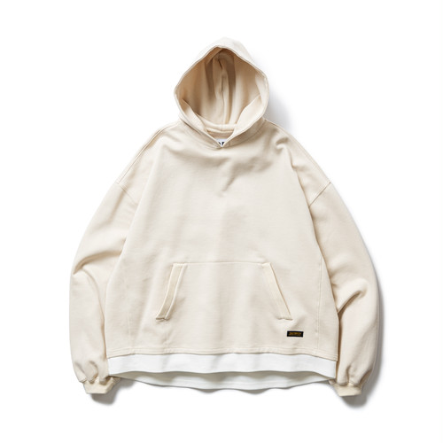TIGHTBOOTH SMOOTH LAYERED HOODIE IVORY L
