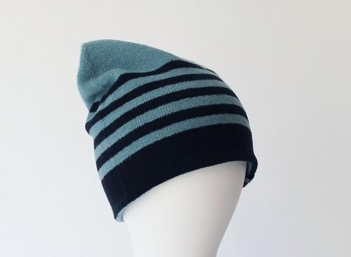 % PERCENT ニット帽(ミントグリーン・ブラック)リバーシブル・セルフヒーター・男女兼用・ギフト箱付