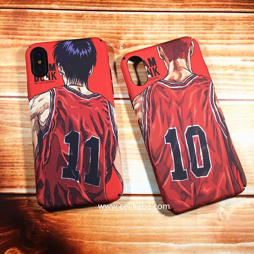 SLAM DUNK 桜木花道 流川楓 スラムダンク iphoneケース コミック 漫画 バスケ風 カバー型 アイフォンXケース iPhone8/7 Plusカバー フルカバー