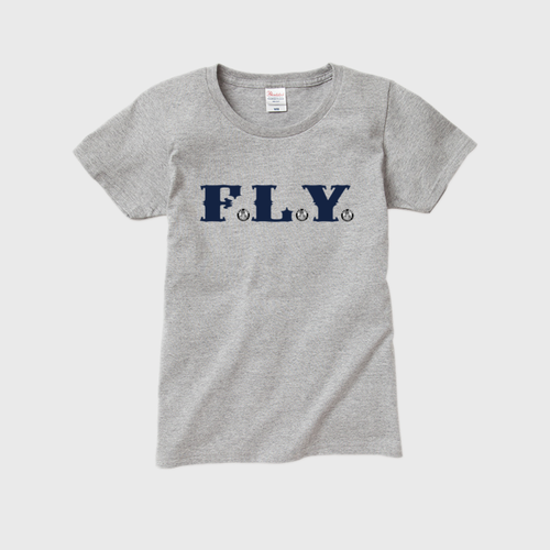 F.L.Y. Women's T-Shirt (GRY×NVY)