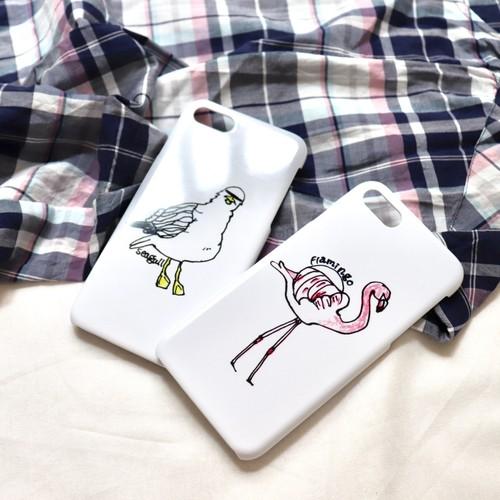 白地スマホケースbird【送料無料】(iPhone各種/Android多数対応)