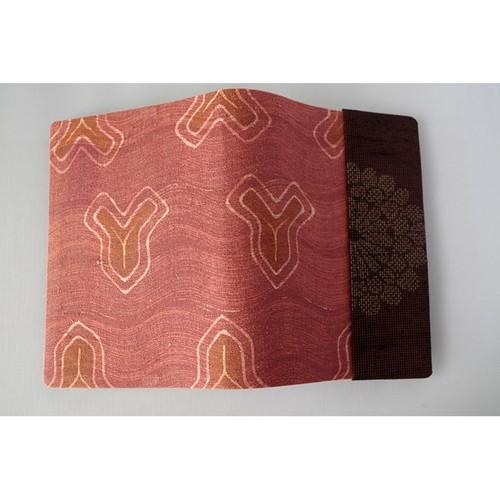 絹の文庫本セパレート式ブックカバー(ツートンカラー) hb015