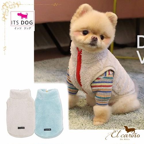 10。ITSDOG【正規輸入】犬 服 ベスト ハイネック 袖なし 秋 冬物