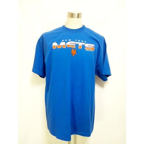 ニューヨーク メッツ NY newyork METS ブルー ロゴ Tシャツ 青 MLB B系 ストリート系 大きいサイズ XXL 2XL TEE T-SHIRTS 半袖 メジャーリーグ ベースボール 294