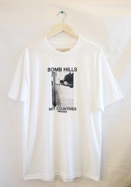 GX1000 BOMB HILLS Tシャツ L 白 ジーエックス1000
