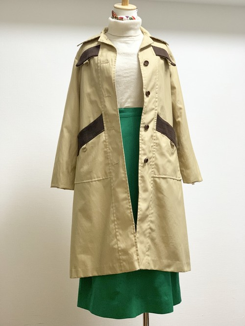 Vintage Cotton Nylon Long Coat Made In Canada