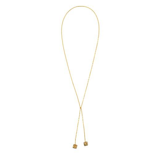 《ラリエット》TIN BREATH Lariat 10×10×820mm Gold
