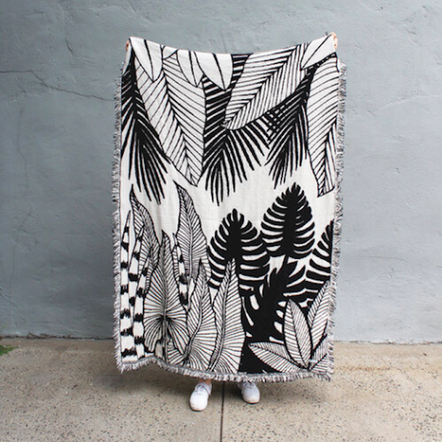 CALHOUN&CO. JUNGLE REVERSIBLE THROW BLANKETブランケット