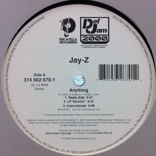 Jay-Z - Anything (12inch) [hiphop] 試聴 fps7906-13