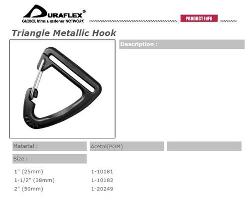 数量限定セール! お得な100個入り duraflex 三角フック 25mm幅用 triangle metallic hook