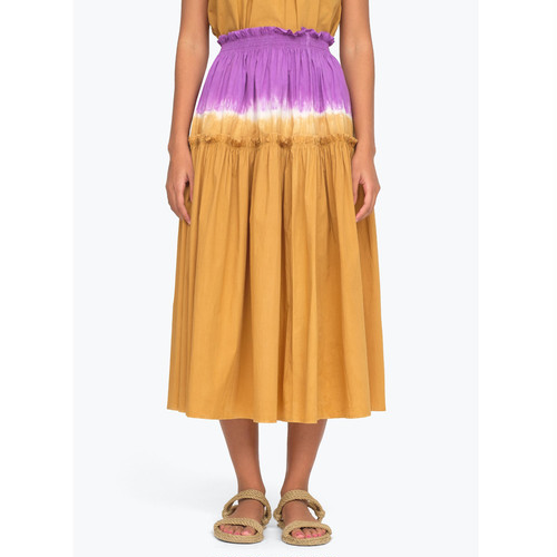 SEA NY  TIE DYE SKIRT  HONEY