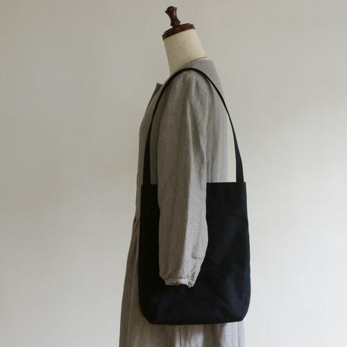 セイタカノッポトート 黒 / 9号帆布
