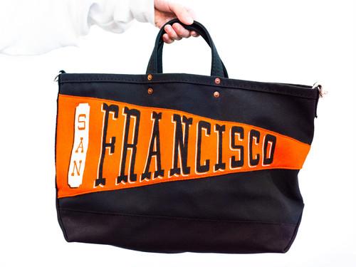 【Oxford Pennant】P.T Works & Design Tote (San Francisco / BLACK)