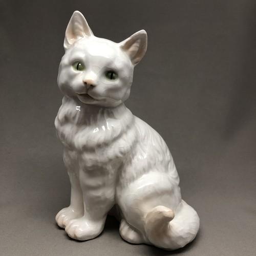 ドイツ Goebel ゲーベル 白猫  1940年代 フィギュリン