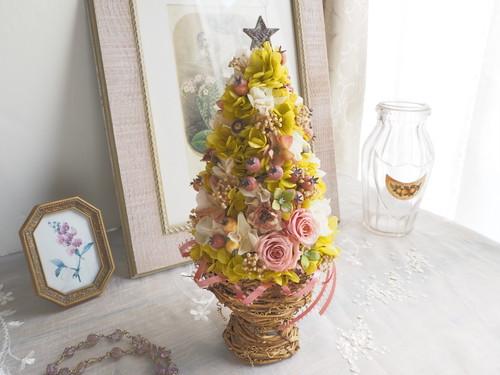 Arbre de  Noël<French   nature>*クリスマスツリー*アレンジメント*プリザーブドフラワー* 花*2019