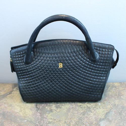 .VINTAGE BALLY MATELASSE LEATHER HAND BAG MADE IN ITALY/ヴィンテージバリーマトラッセレザーハンドバッグ 2000000034157