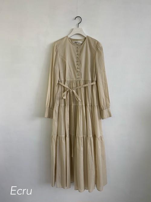 Bilitis dix-sept ans  Tiered Dress(Plain)