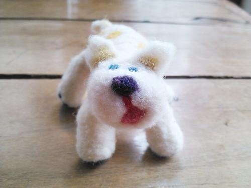 犬 羊毛人形