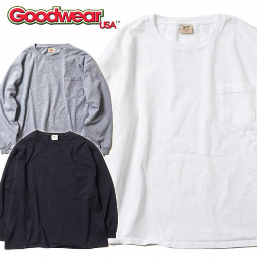(グッドウェア)Goodwear BIG L/S CREW POCKET TEE