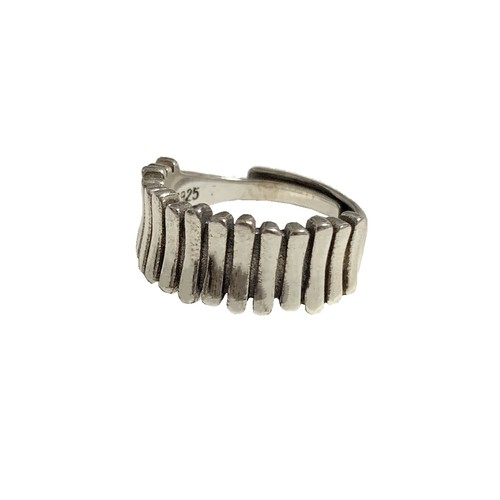 Silver 925 Stripe Ring