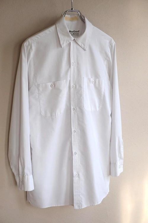 1990's USA製 [Wear Guard] ワークシャツ ホワイト ソリッド 表記(M)