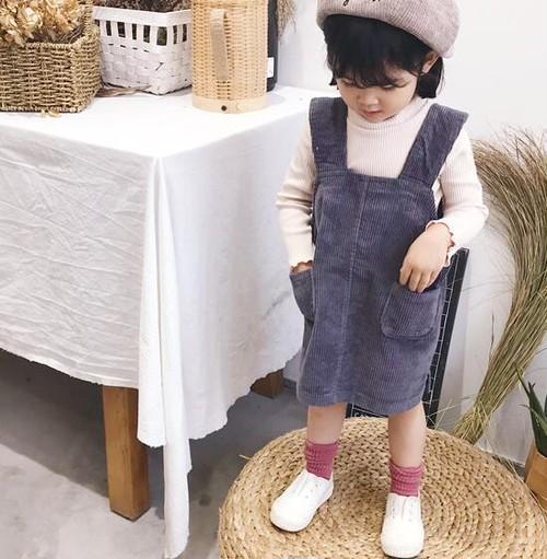 【即納商品】 コーデュロイジャンパースカート co043