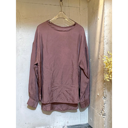 【hippiness】cupro long sleeve (brown)/【ヒッピネス】キュプラ ロングスリーブ(ブラウン)