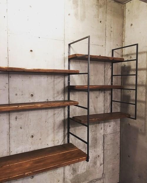 数量限定 ラダー2台+棚板3枚セット アイアン ラダーシェルフ 古材 壁付棚 ディスプレイ ラダーシェルフ ブラケット