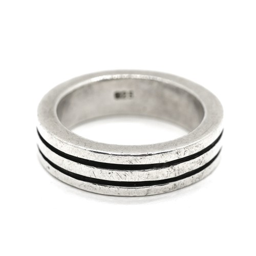 Vintage Sterling Silver Mexican Line Ring