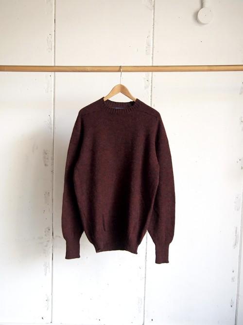 USED / PENDLETON, Shetland wool crewneck knit