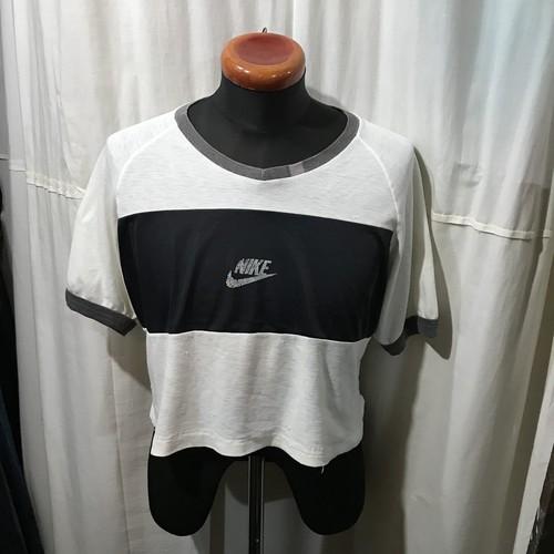70's vintage NIKE ナイキ オレンジスウォッシュ ショート丈Tシャツ メンズL