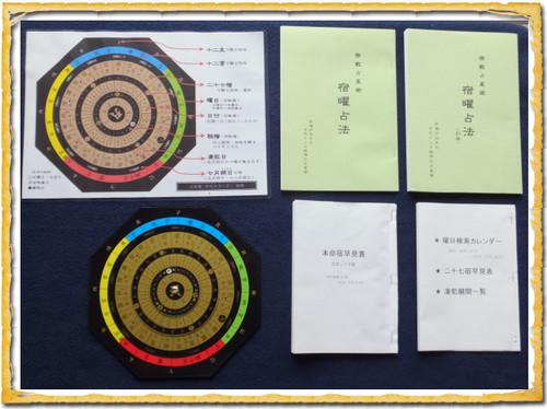 宿曜経占い 占星盤(ホロスコープ・アクリル)&解説