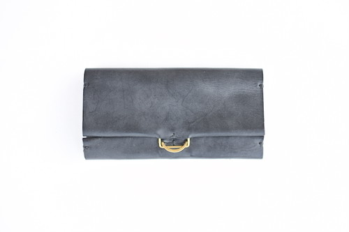 【KLASICA】CELLO LONG WALLET - WAXED BLACK