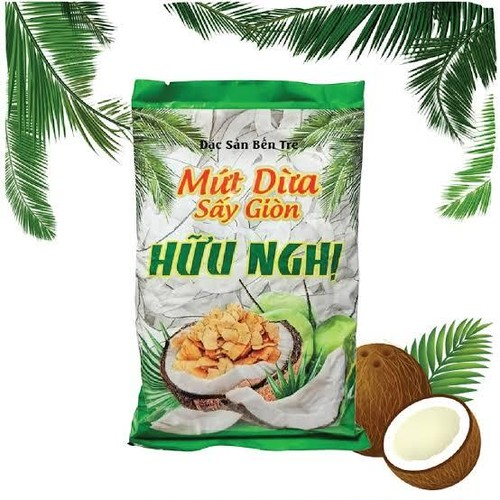 Mứt Dừa Sấy Giòn (ドライ ココナッツ肉)-275g