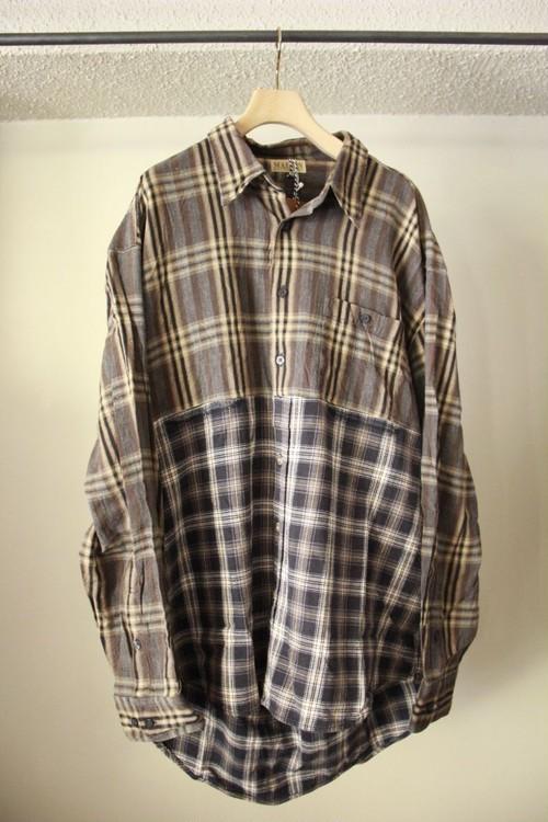 MALION VINTAGE マリオンビンテージ back open check shirts B type