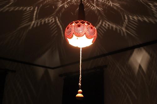 天井ペンダントひょうたんランプ #4