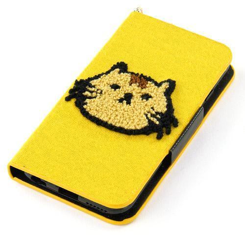 【取り寄せ】ねこどっと iPhone6手帳型ケース マスタード
