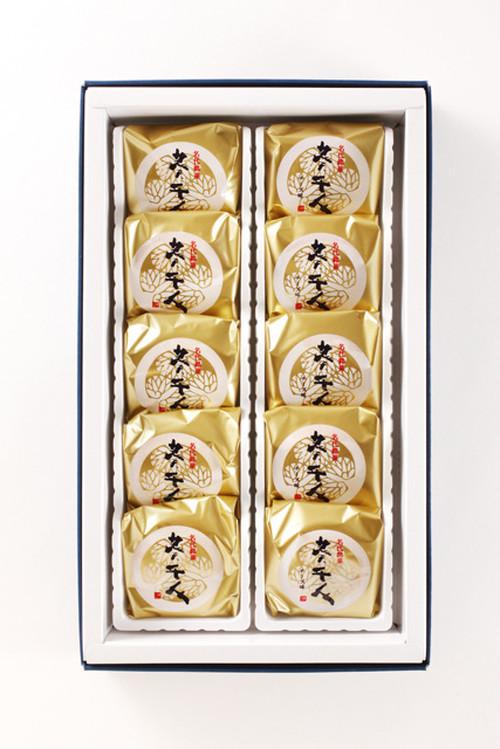 葵千人(黄身餡/チーズ餡) 10個入り