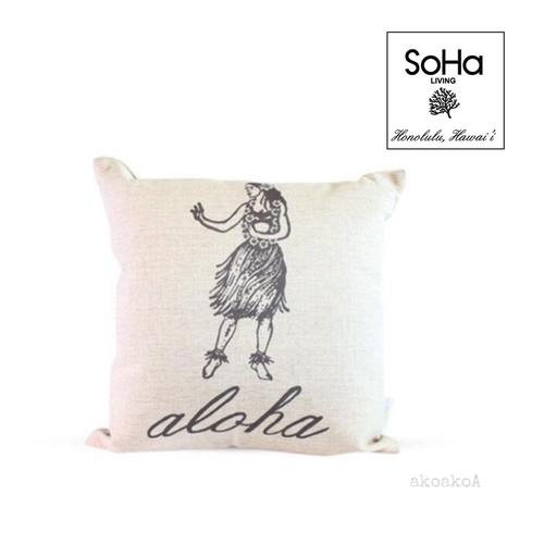 SoHa LIVING[ソーハリビング]ピローカバー フラガール / ALOHA  / クッション / ハワイアン /  雑貨
