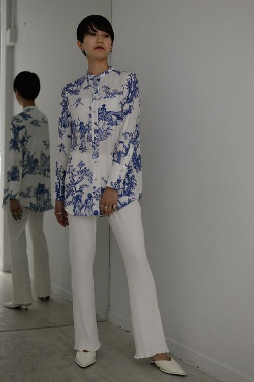 SATORU SASAKI / print shirt (white)