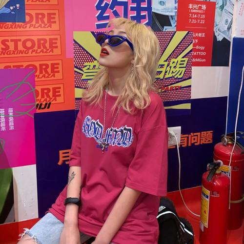 【トップス】韓国風注目新作アルファベットプリントルーズロングTシャツ20610101