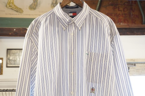 late 90's TOMMY HILFIGER striped cotton Shirt