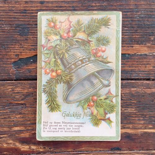 Antique christmas postcard 1939's