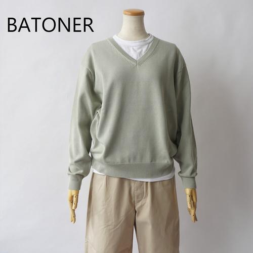 BATONER/バトナー ・Aging Cotton V-Neck