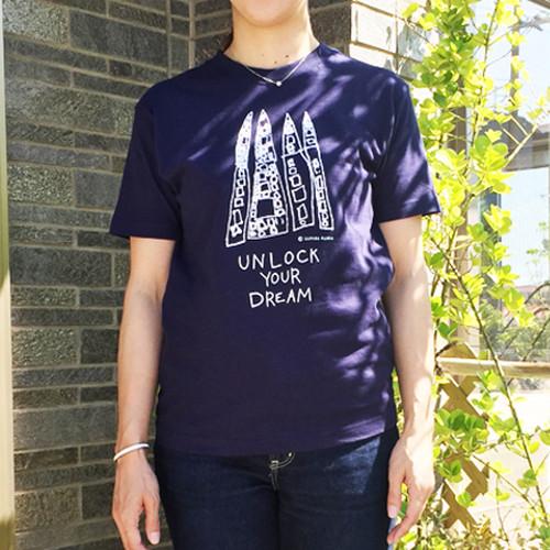 オーガニックTシャツ Lサイズ(紺)